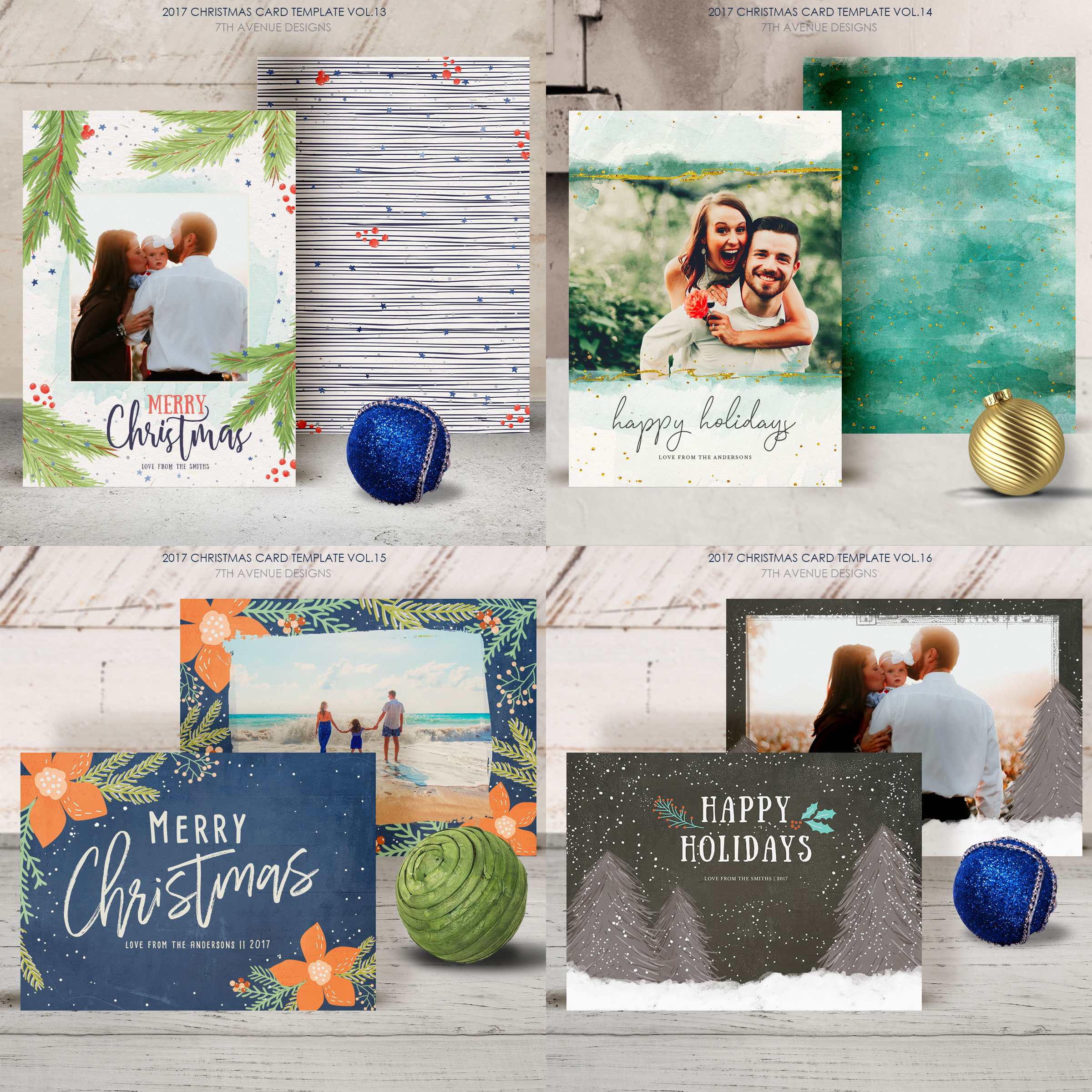 Christmas Cards Template v2 example image 5