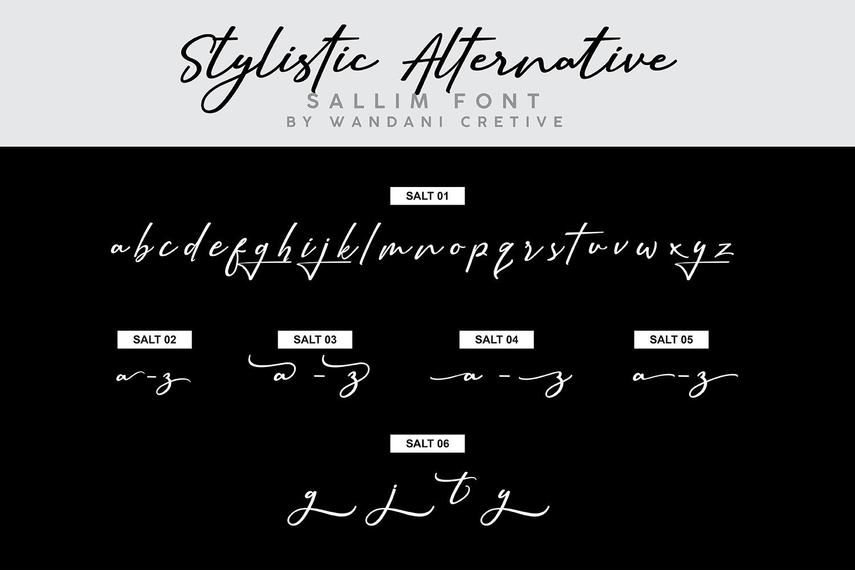 Sallim   Signature Font example image 10