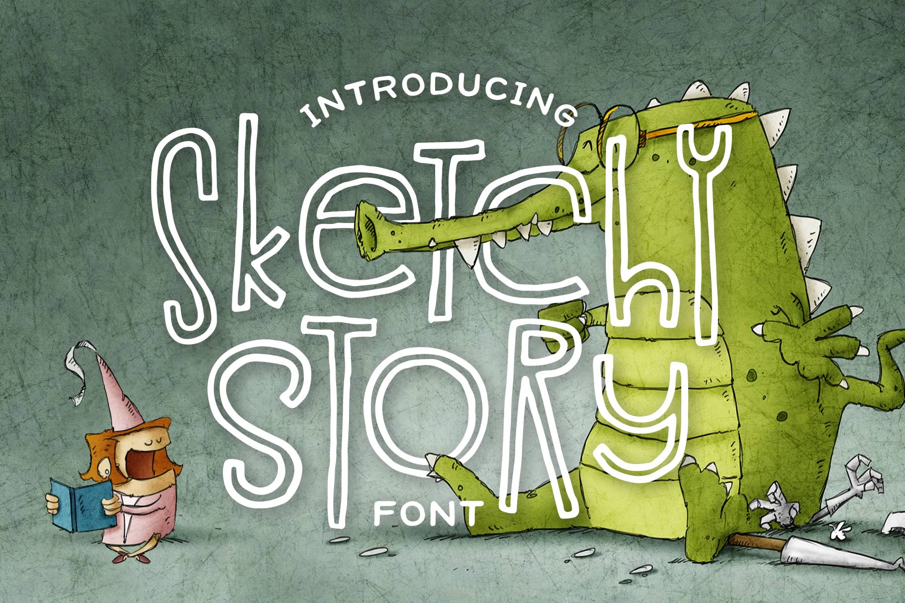 Sketchy Story Font example image 1
