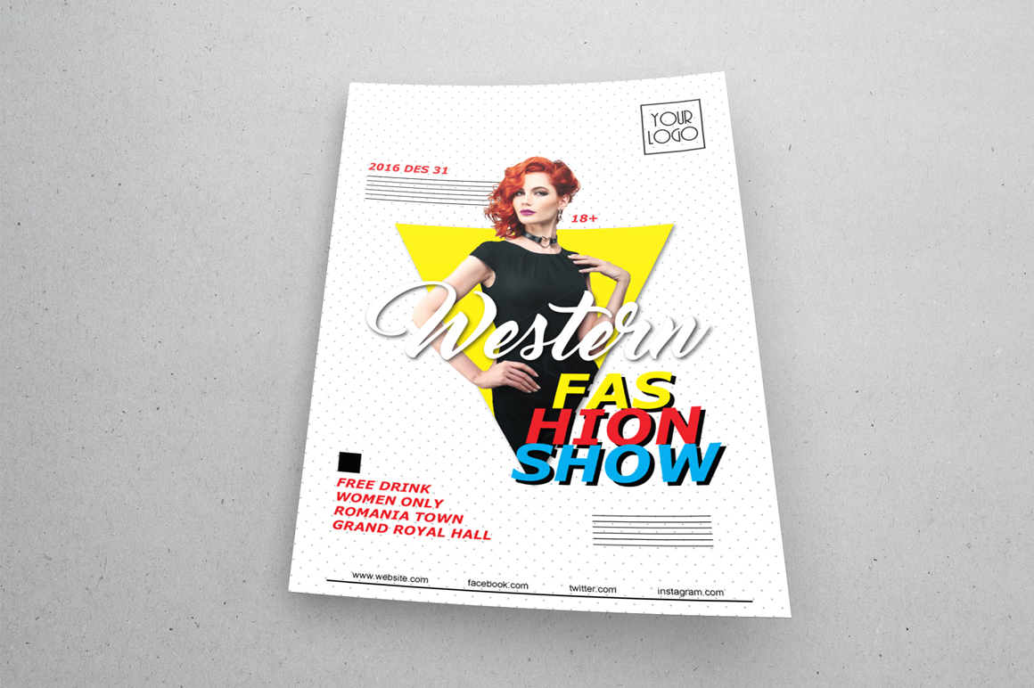 Fashion Show Flyers - v2 example image 5