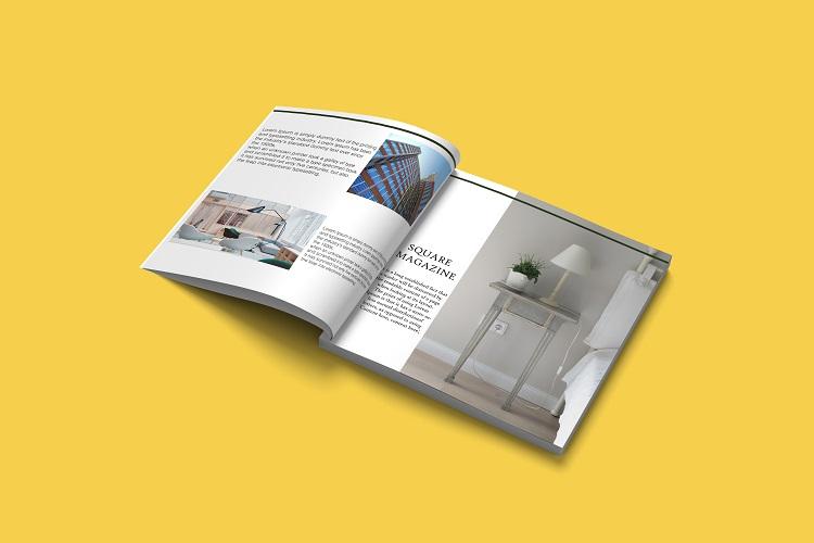 Square Magazine Mockup example image 8