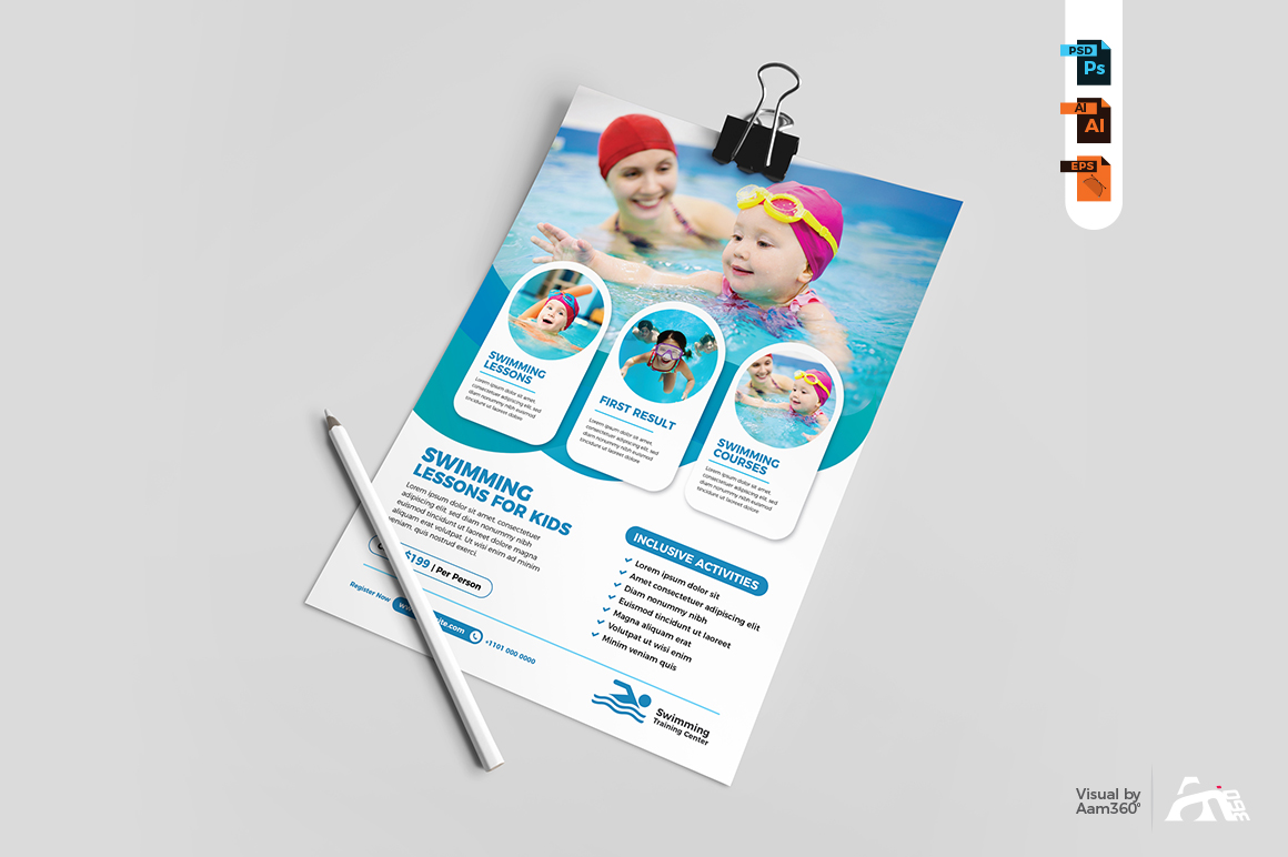 Swimming Lessons Flyer example image 3