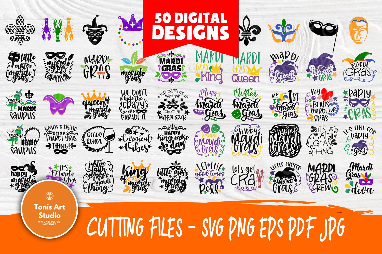 Mardi Gras SVG | SVG Bundle | Cut Files | T shirt Designs example image 1