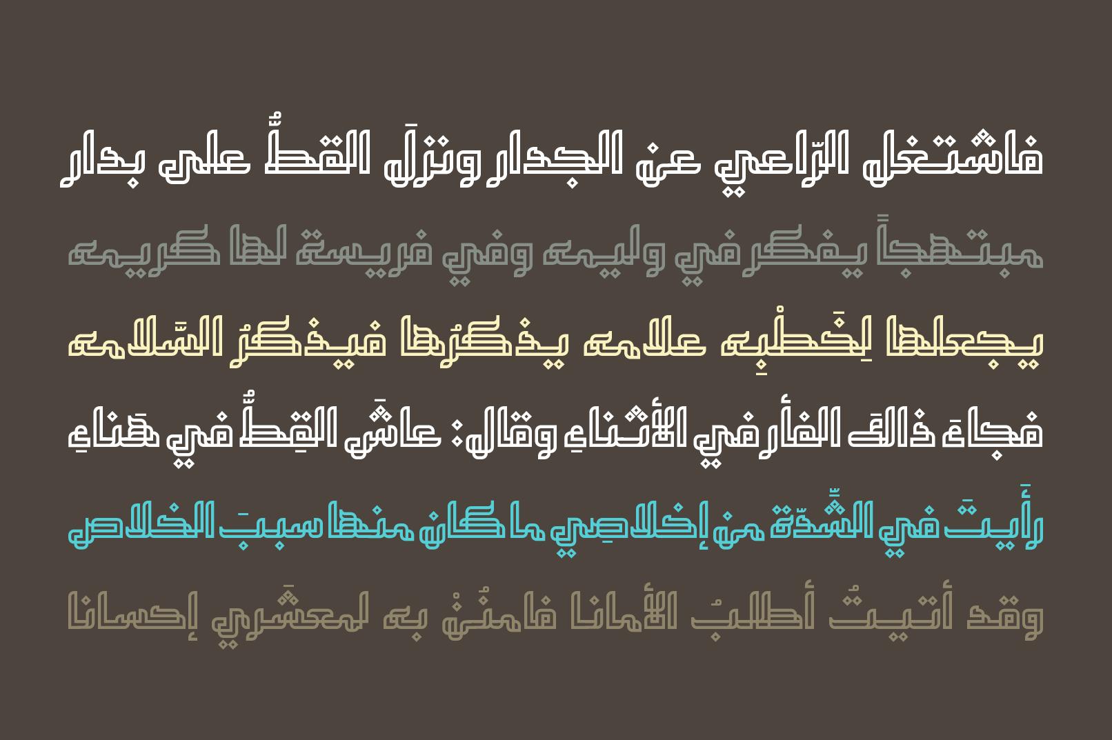 Tashabok - Arabic Font example image 6