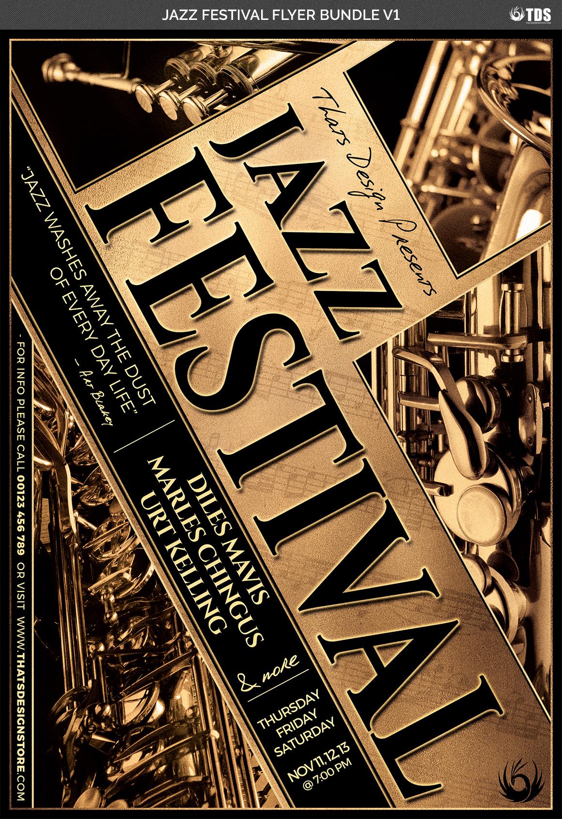 Jazz Festival Flyer Bundle V1 example image 7