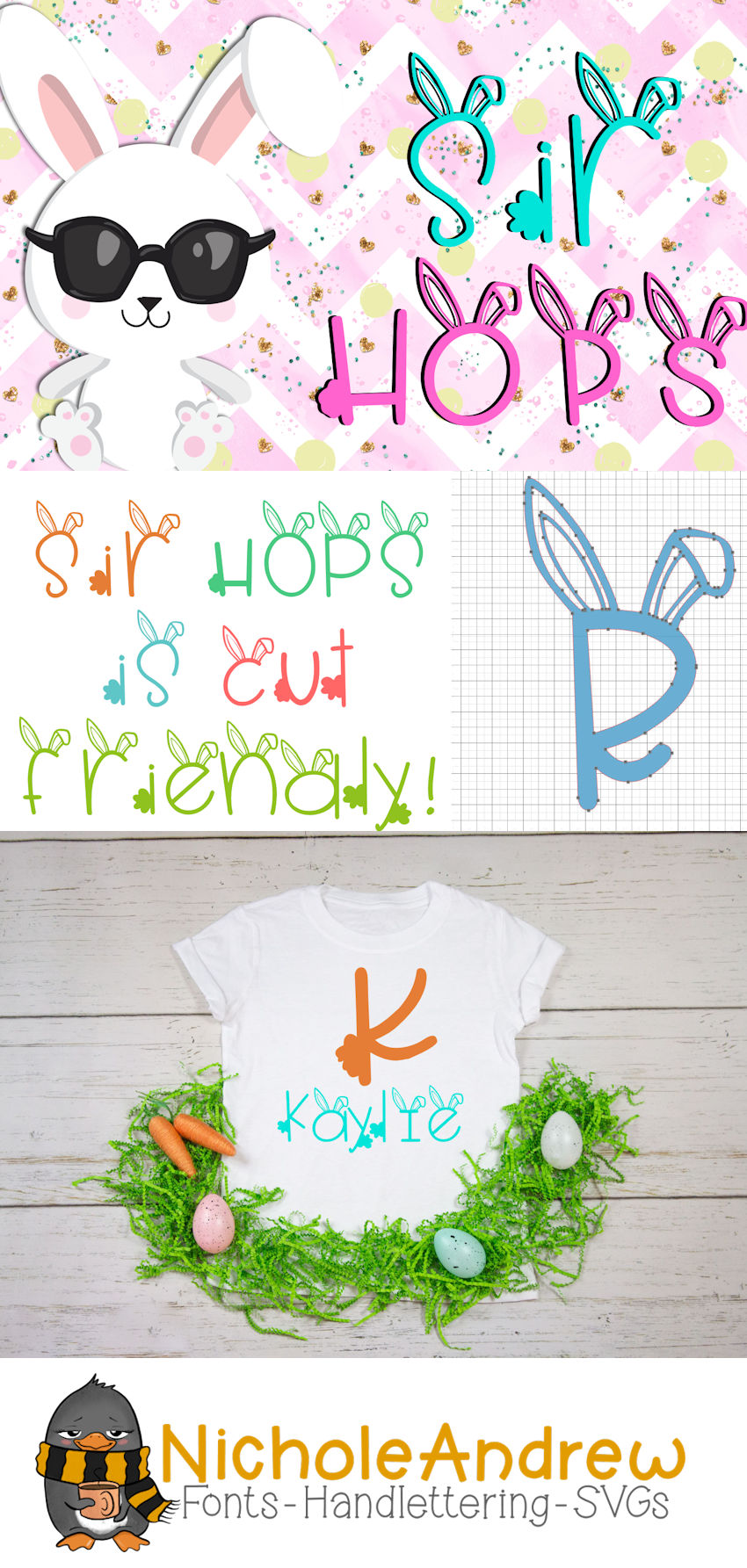 Sir Hops - A Bunny Font example image 5