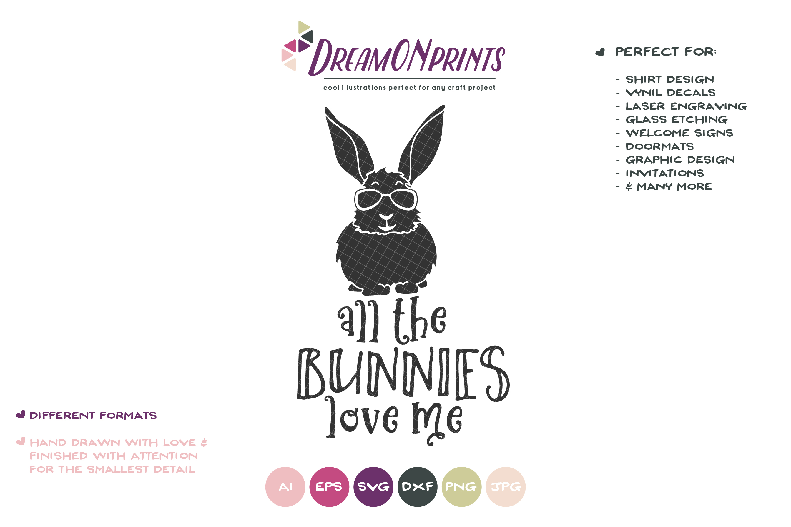 All the Bunnies Love Me SVG - Easter Bunnies SVG example image 2