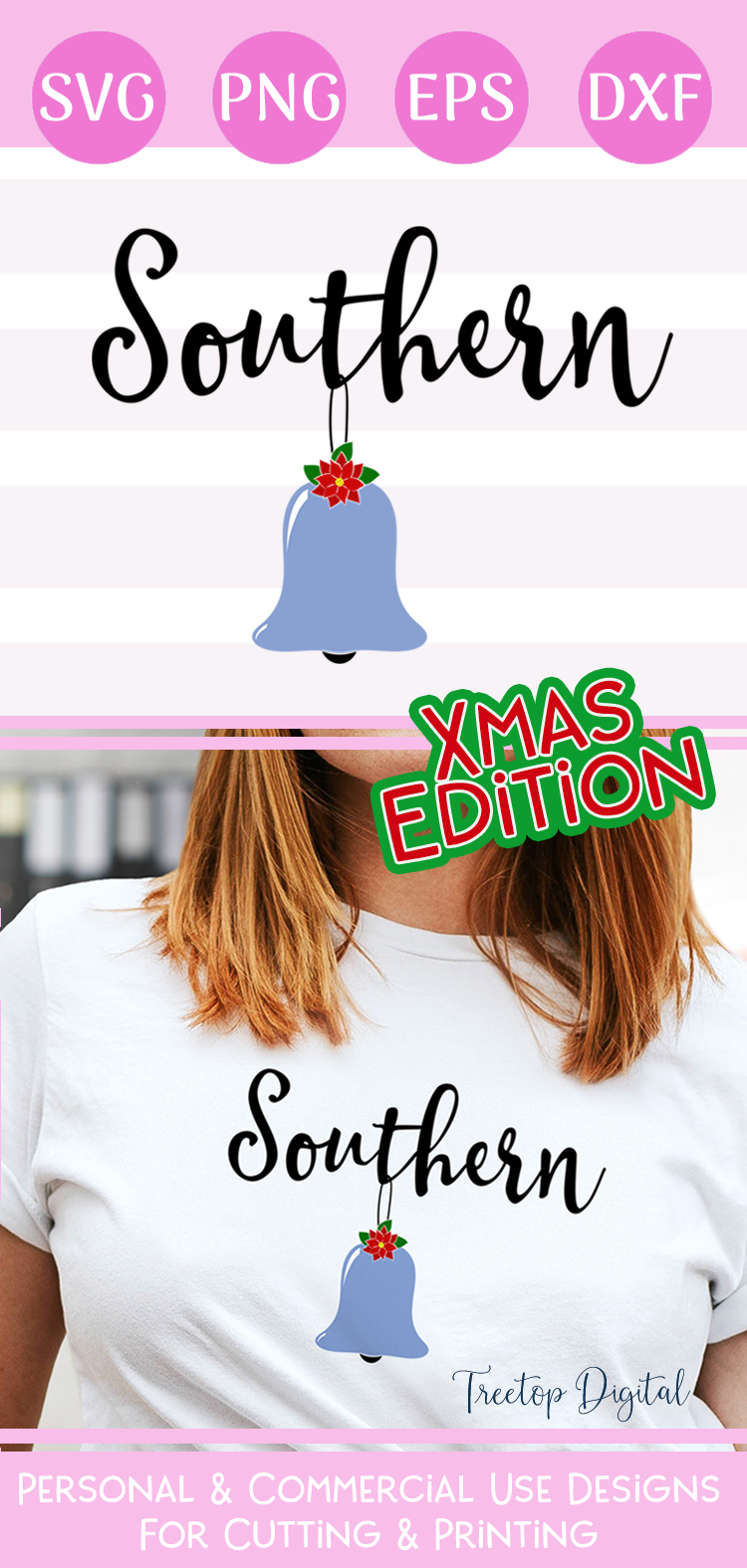 Southern Belle Christmas Style, An SVG for the Southern Gal example image 3