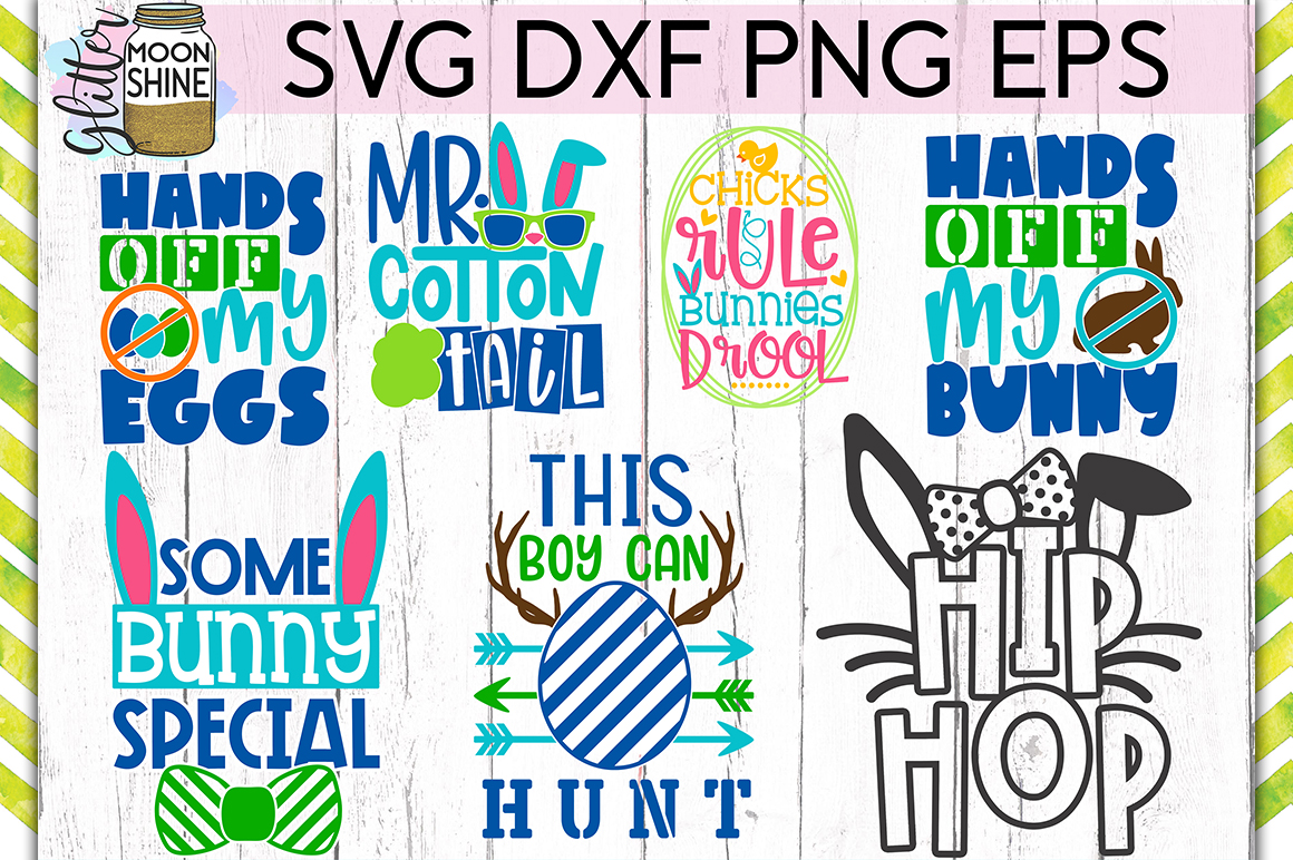 Easter Bundle of 23 SVG DXF PNG EPS Cutting Files example image 3