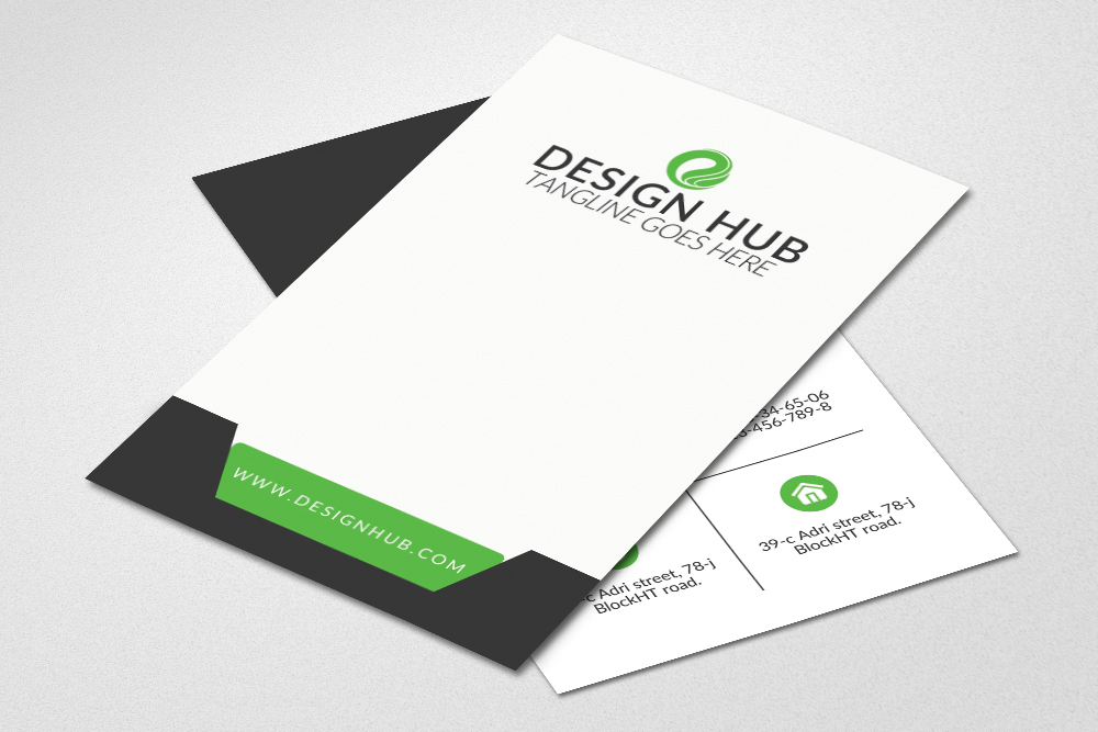 Vertical Business Card Template example image 2