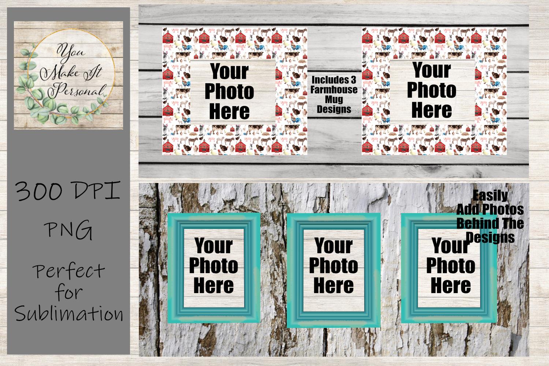 Set of 3 Sublimation Mug Designs, Farmhouse Designs for Mugs example image 2