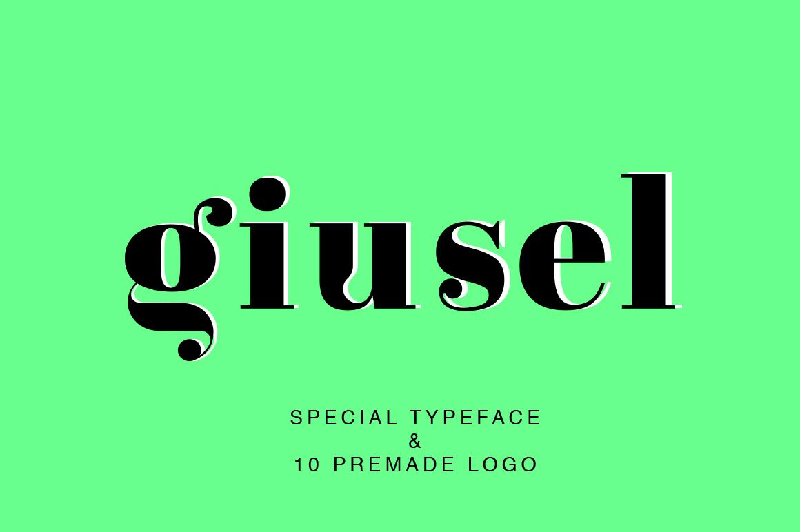 GIUSEL FASHIONABLE FONT AND 10 LOGO example image 1
