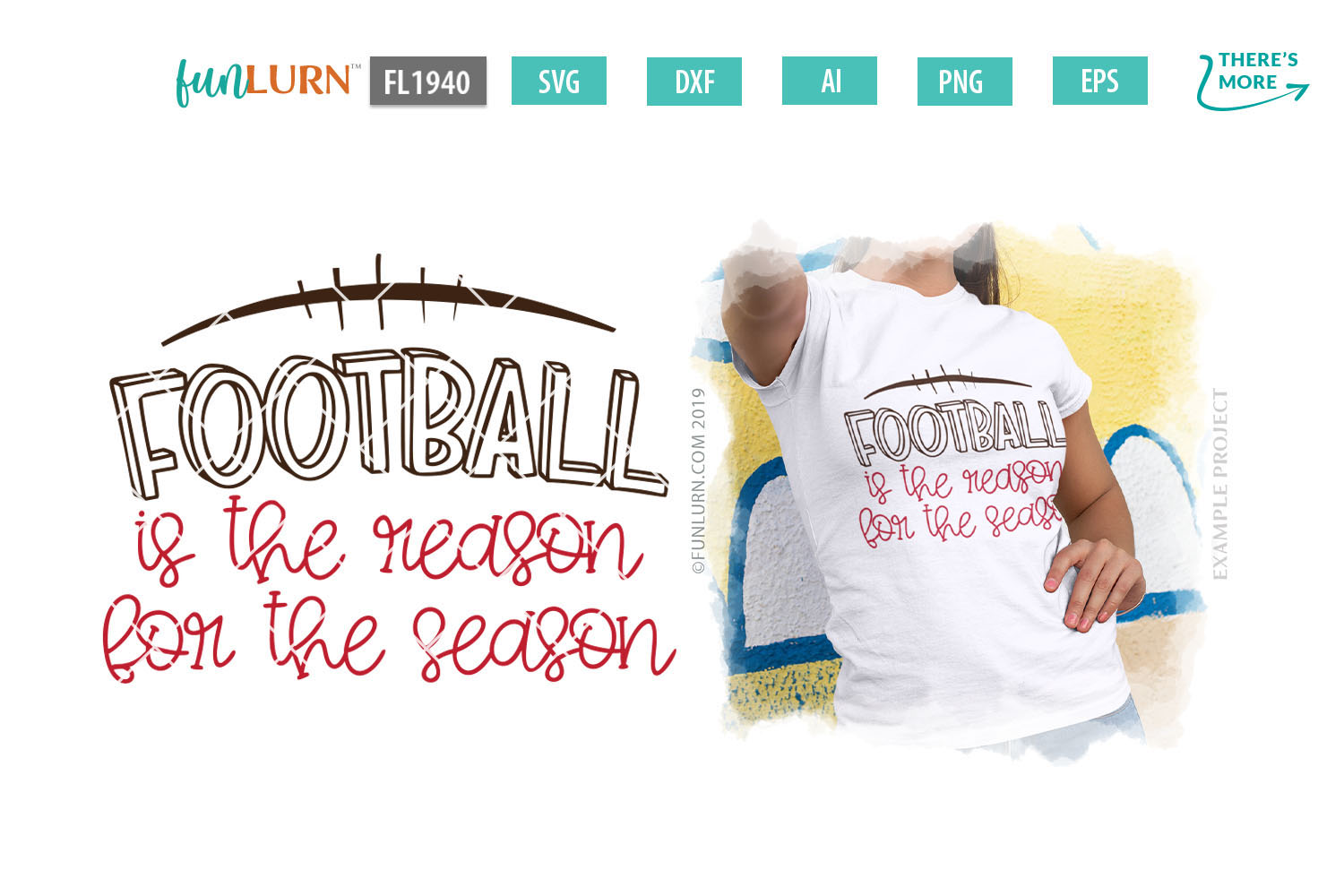 Football is the Reason For the Season SVG Cut File example image 1