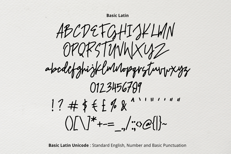 Signatura Font example image 2