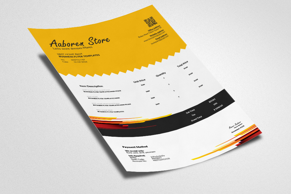 Professional Invoice Template example image 3