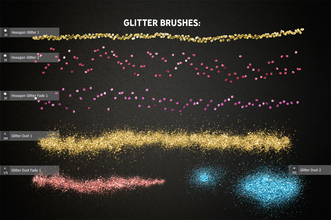 Realistic Glitter Effect TOOLKIT example image 5
