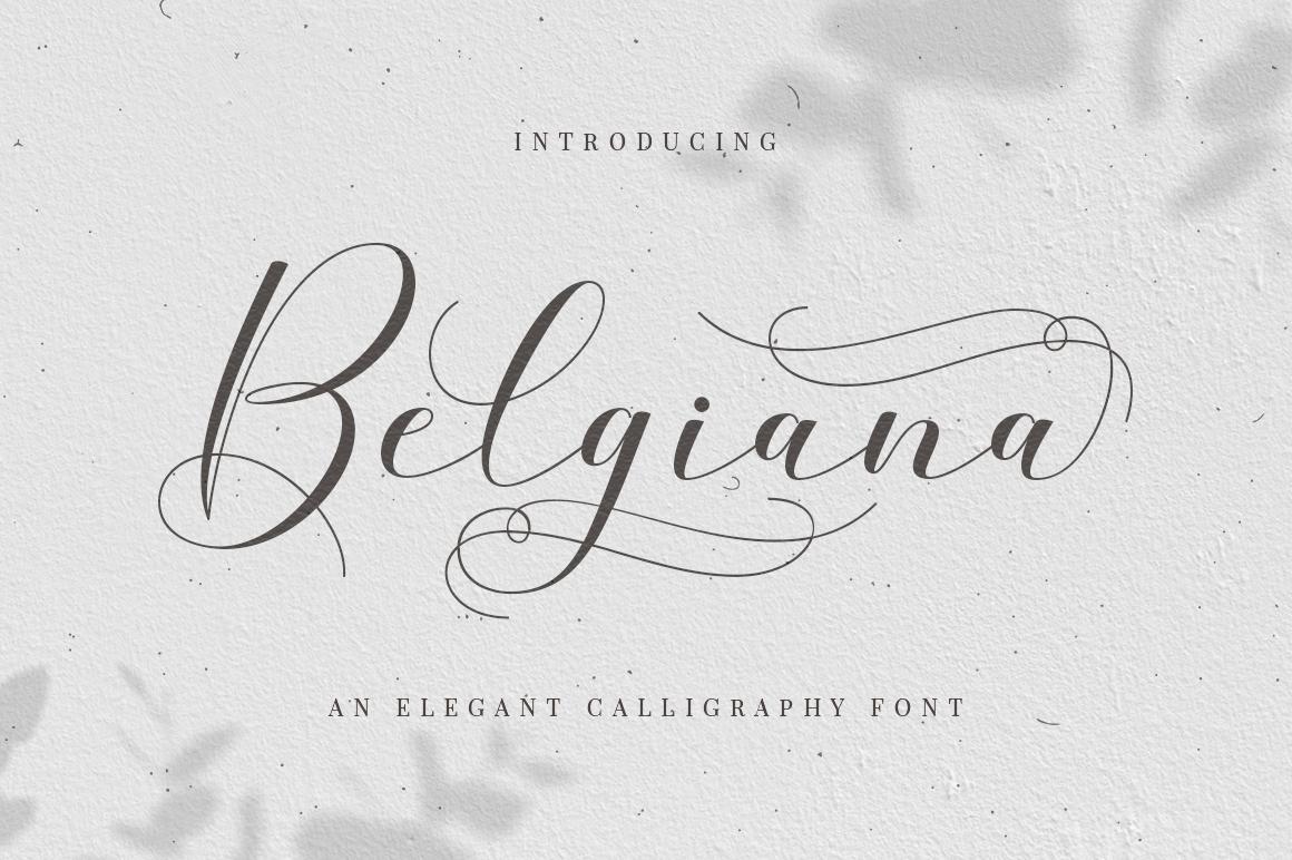 Belgiana Script example image 1