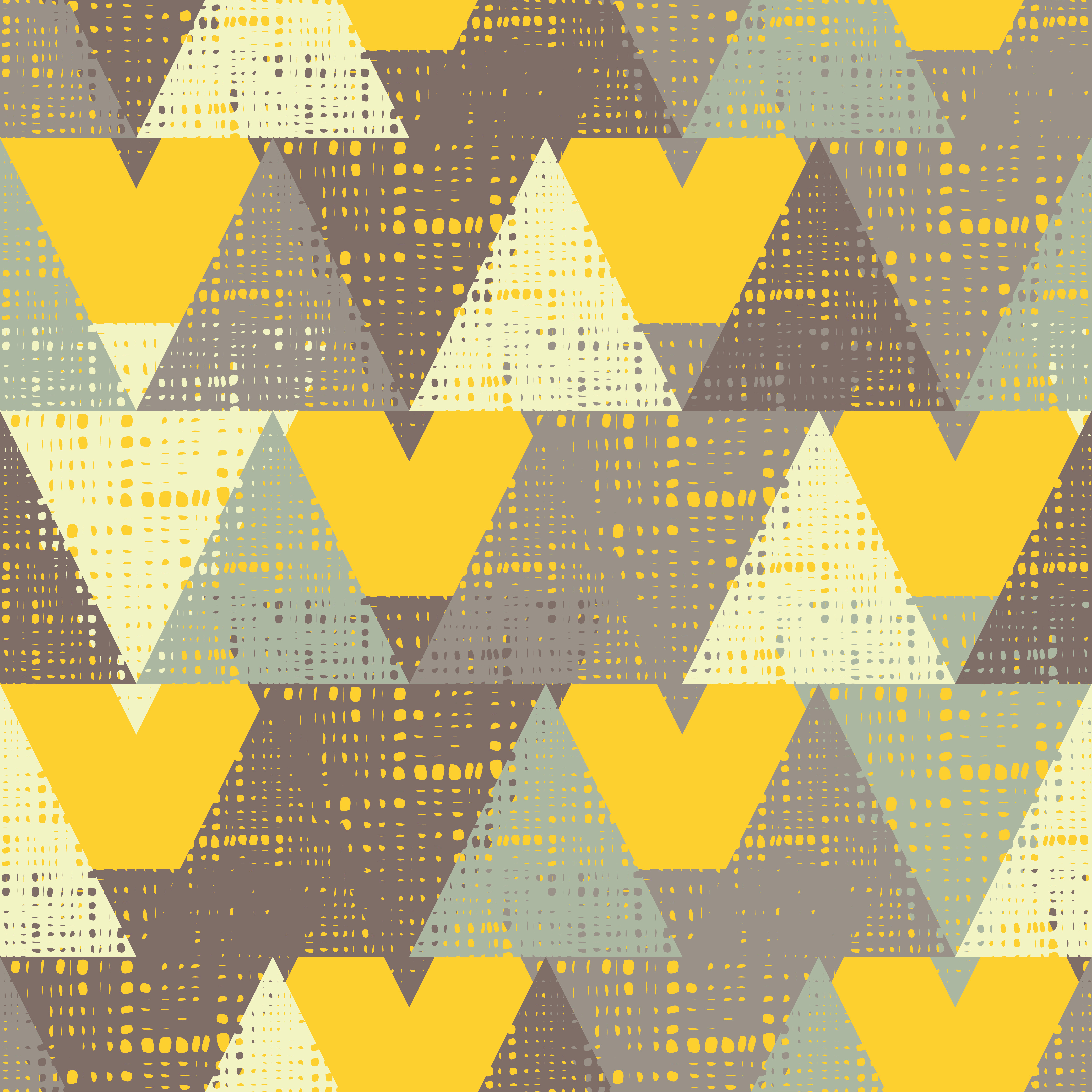 Seamless background pattern of triangles with holes. Vector illustration. Textile rapport. example image 1