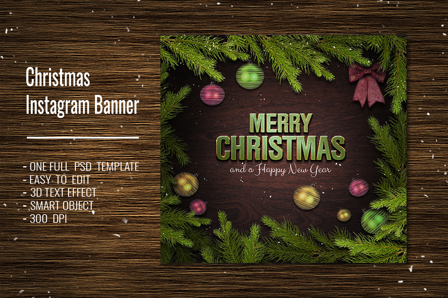 Christmas Facebook Timeline Cover & Instagram Banner PSD example image 4