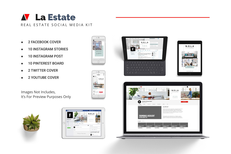 La Estate Real Estate Social Media example image 1