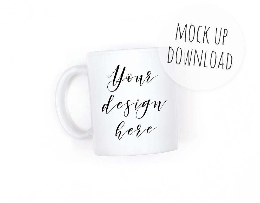 Simple Mug Mockup, White Background example image 1