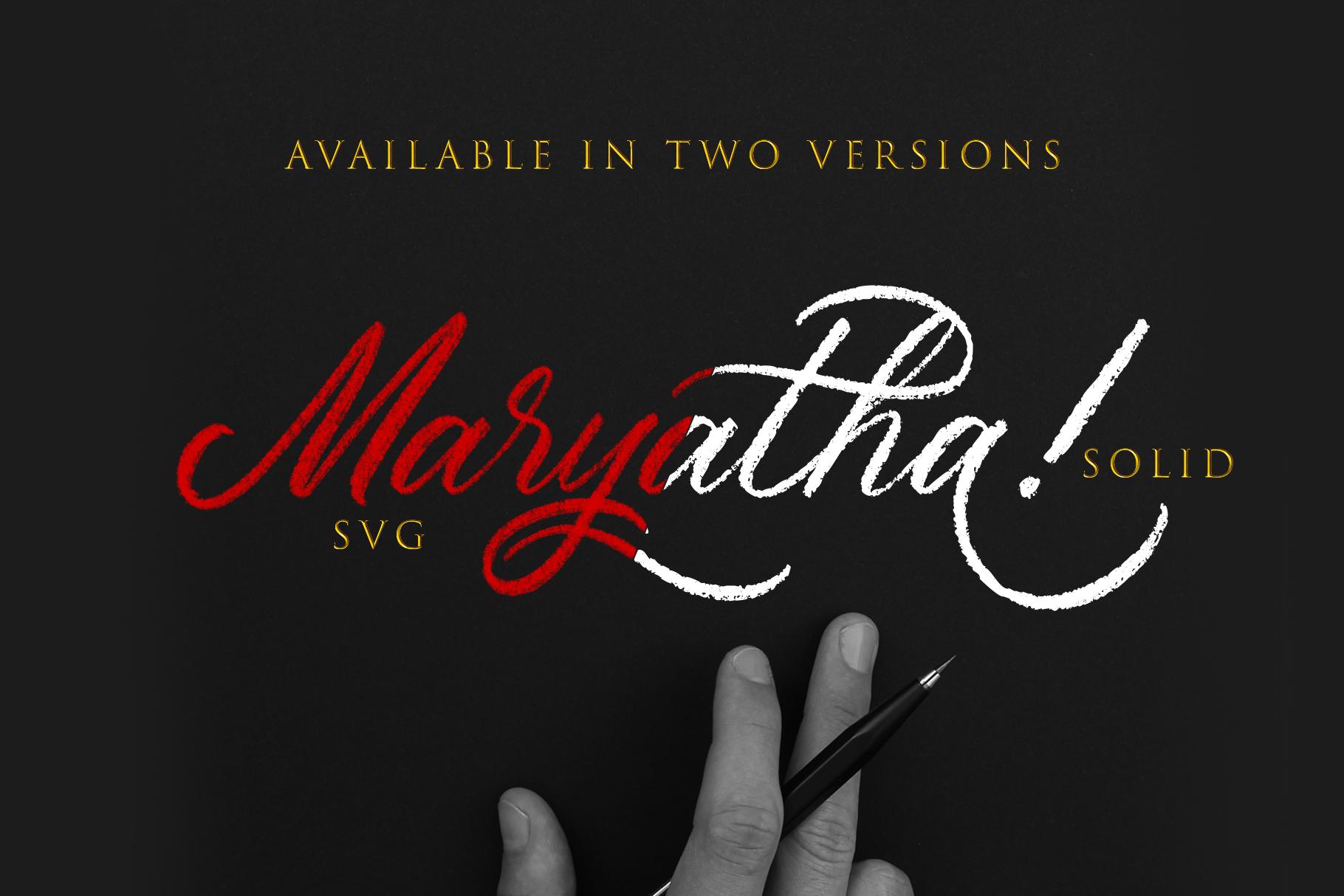 Maryatha SVG Font example image 6