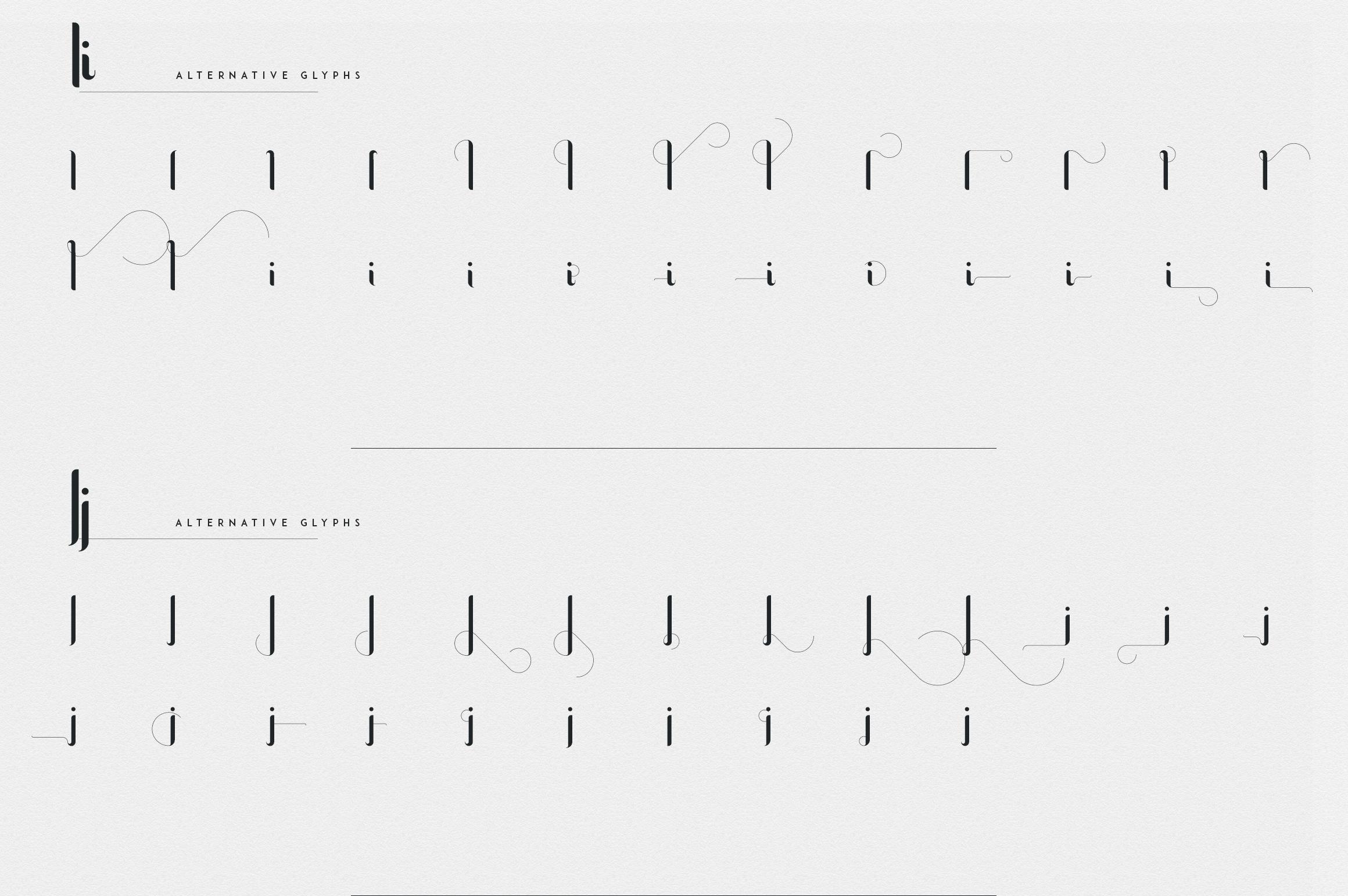 Fonatik Display font Extras example image 15