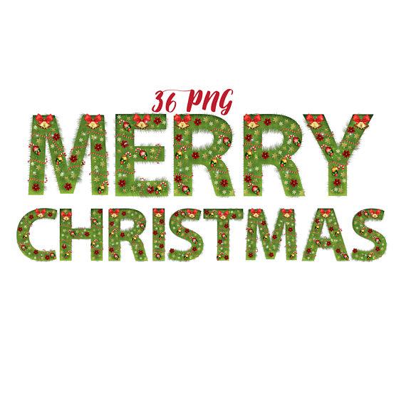 Christmas tree fir alphabet example image 1