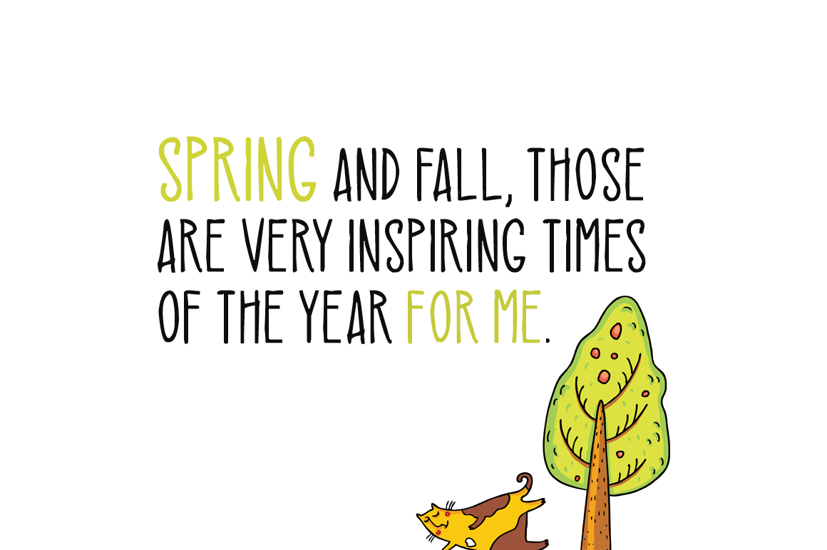 Spring Cats example image 2