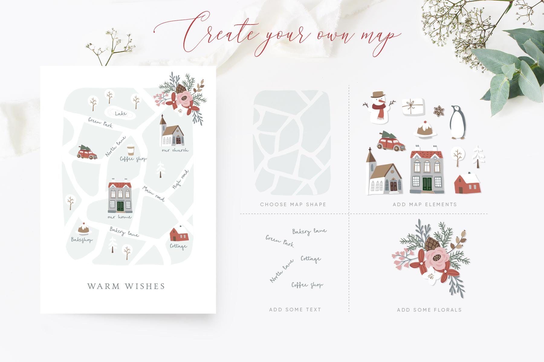 Charming Christmas card & map creator example image 2