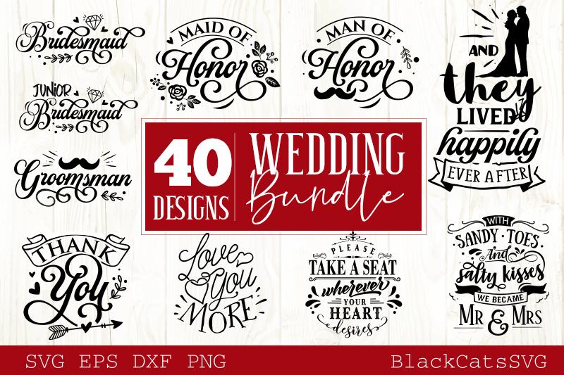 Wedding SVG bundle 40 designs vol 1 example image 4