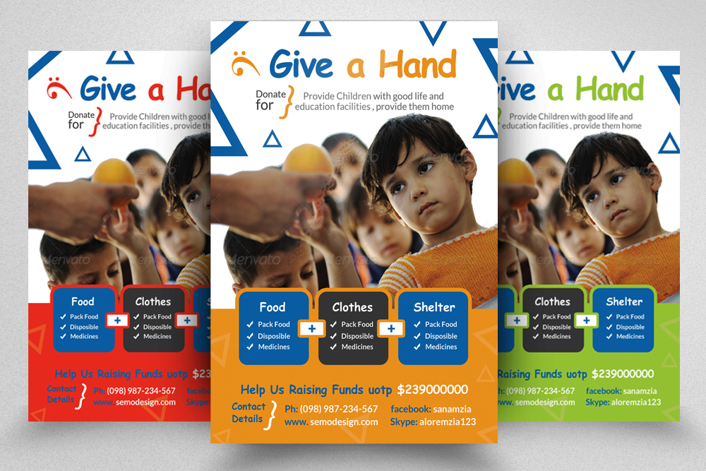 6 Charity & Donation Flyers Bundle example image 7