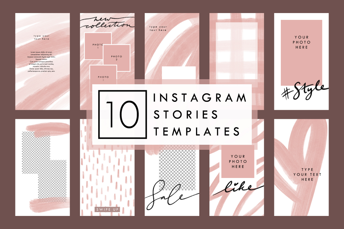 BEIGE 10 Styled Instagram Stories Templates example image 1