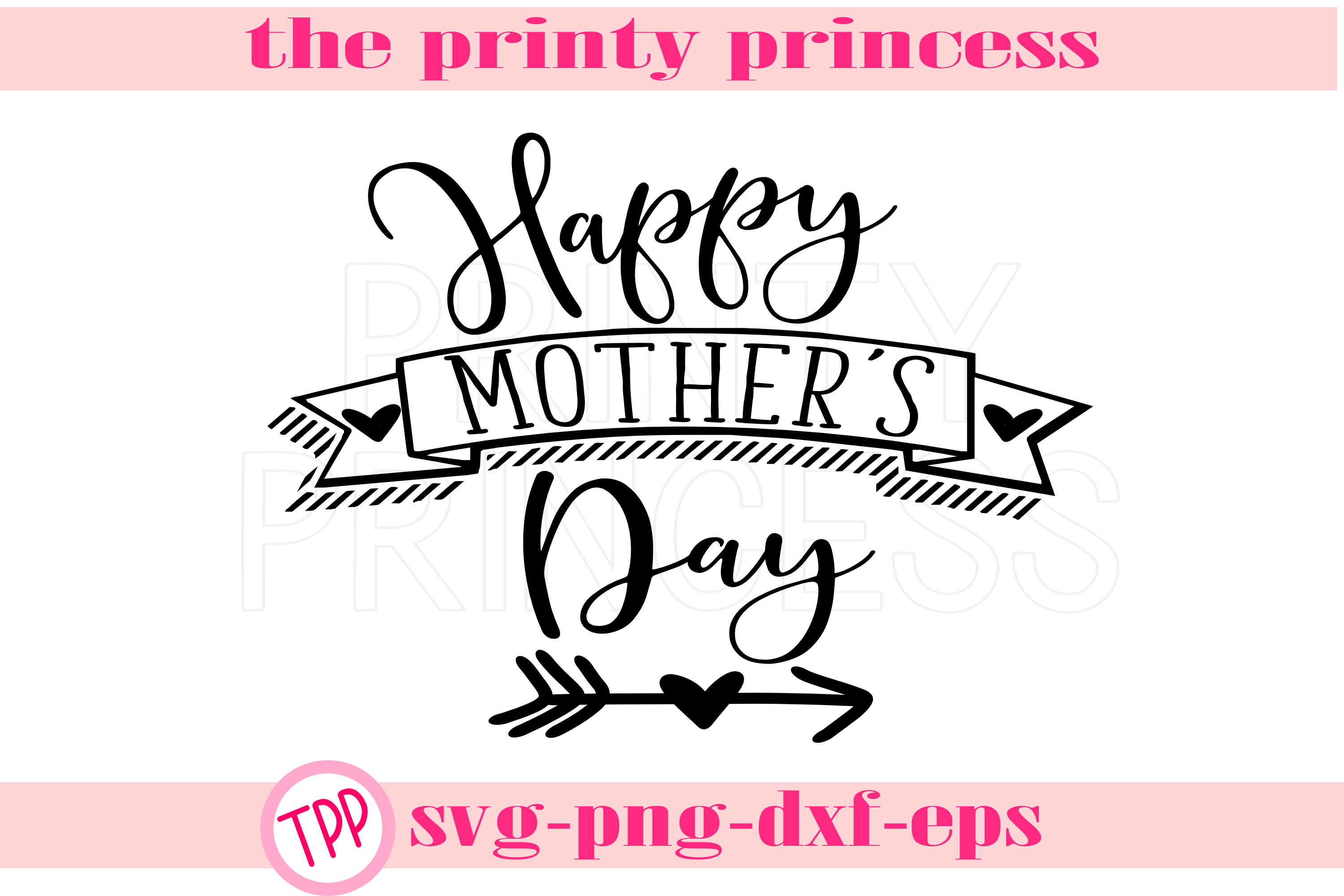 Happy Mother's Day svg, mom svg design file png example image 1