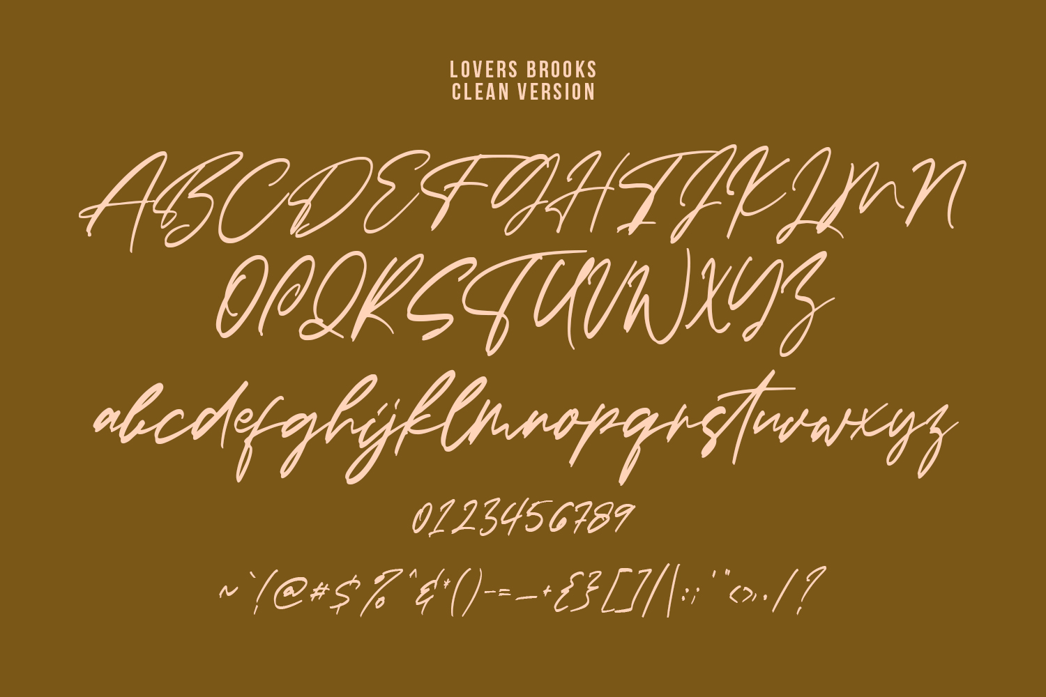Lovers Brooks SVG Brush Font Sans example image 9