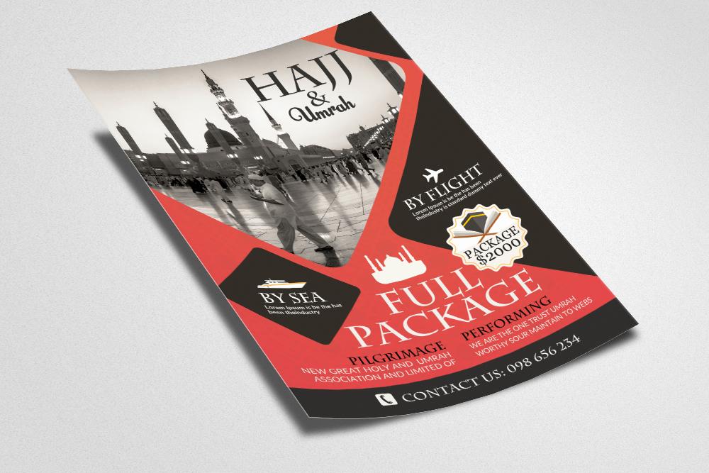 Umrah & Hajj Flyer Template example image 2