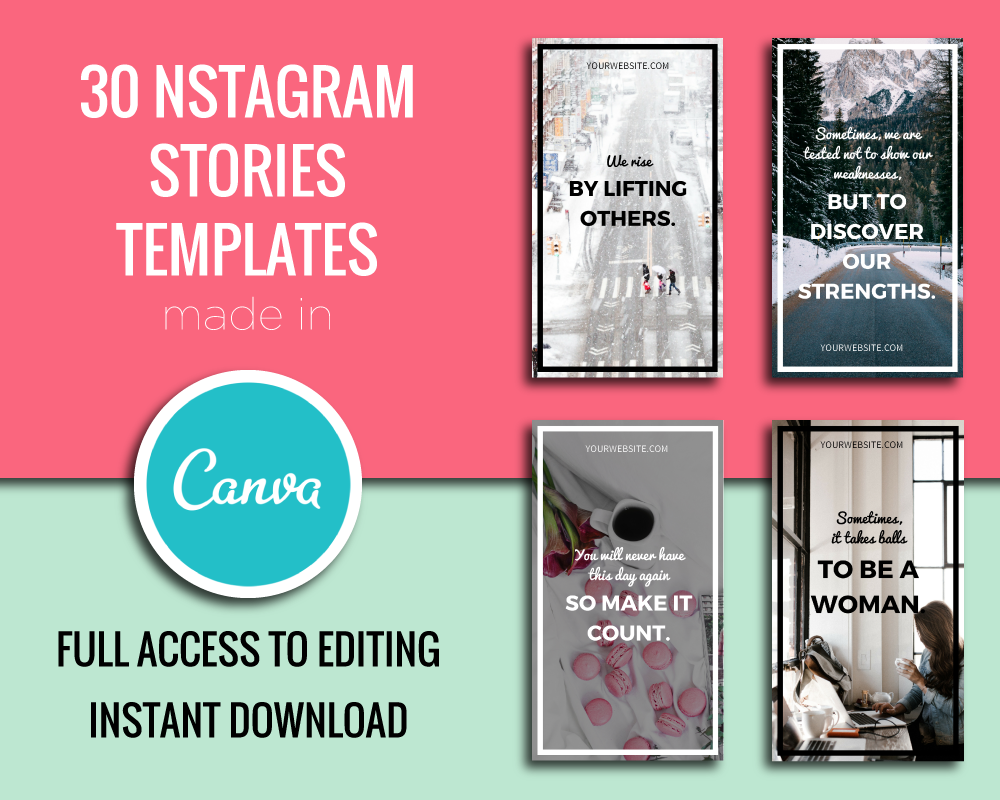 Instagram Stories Templates In Canva Example Image 1