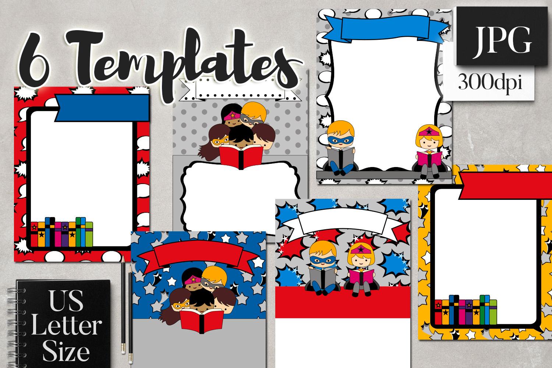Back To School Superhero Flyer Templates example image 1