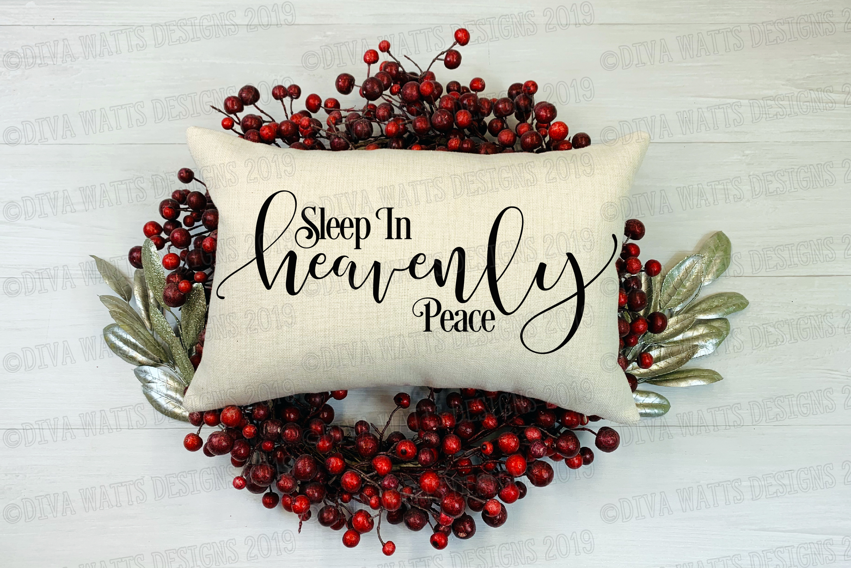Sleep In Heavenly Peace Silent Night Cutting File example image 2