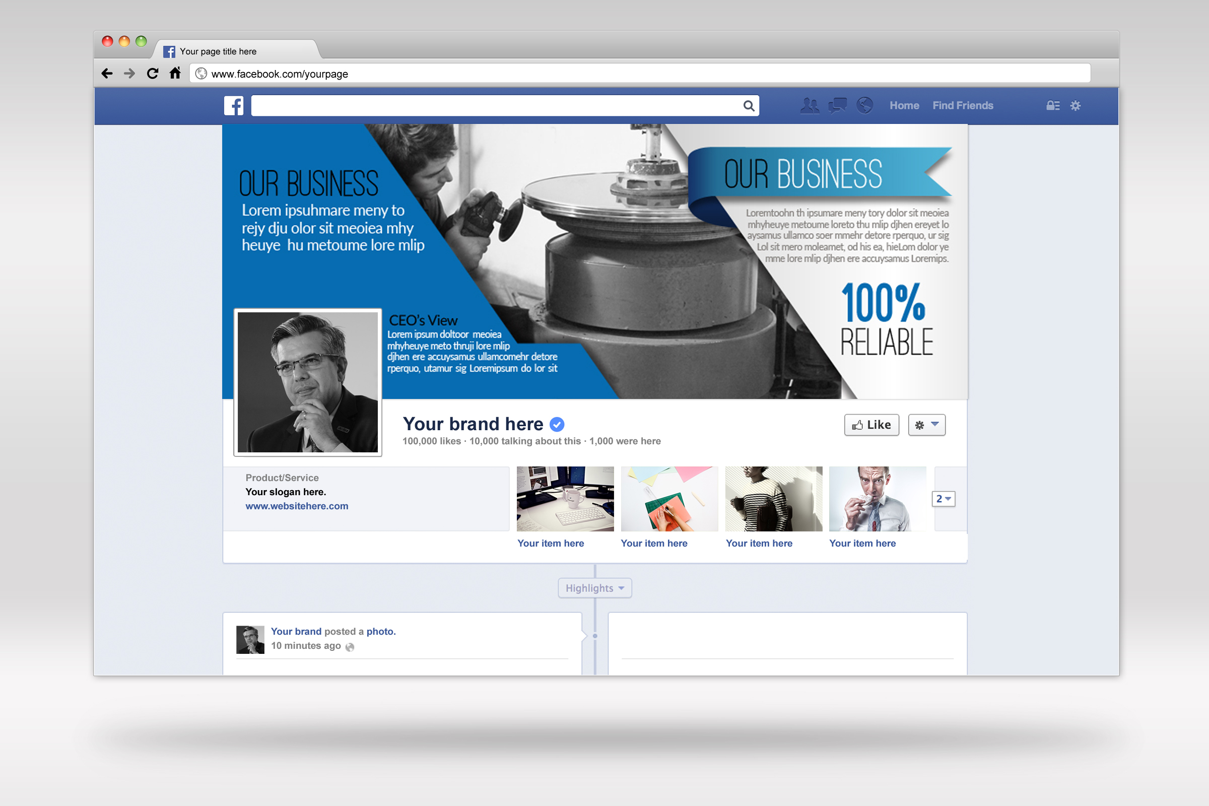 Business Facebook Timelines 03 example image 1