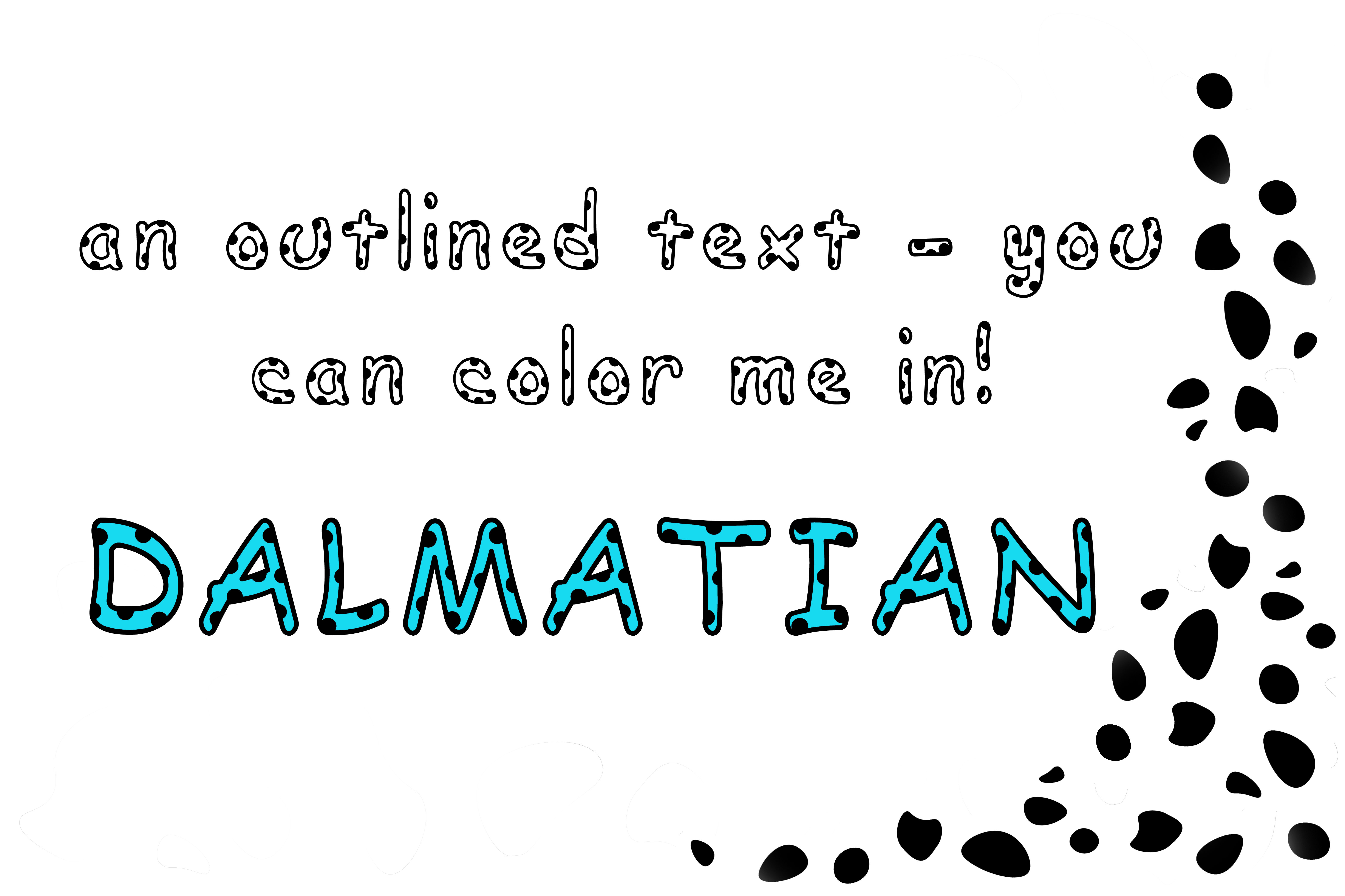 Dalmatian: A Spotted Font example image 2