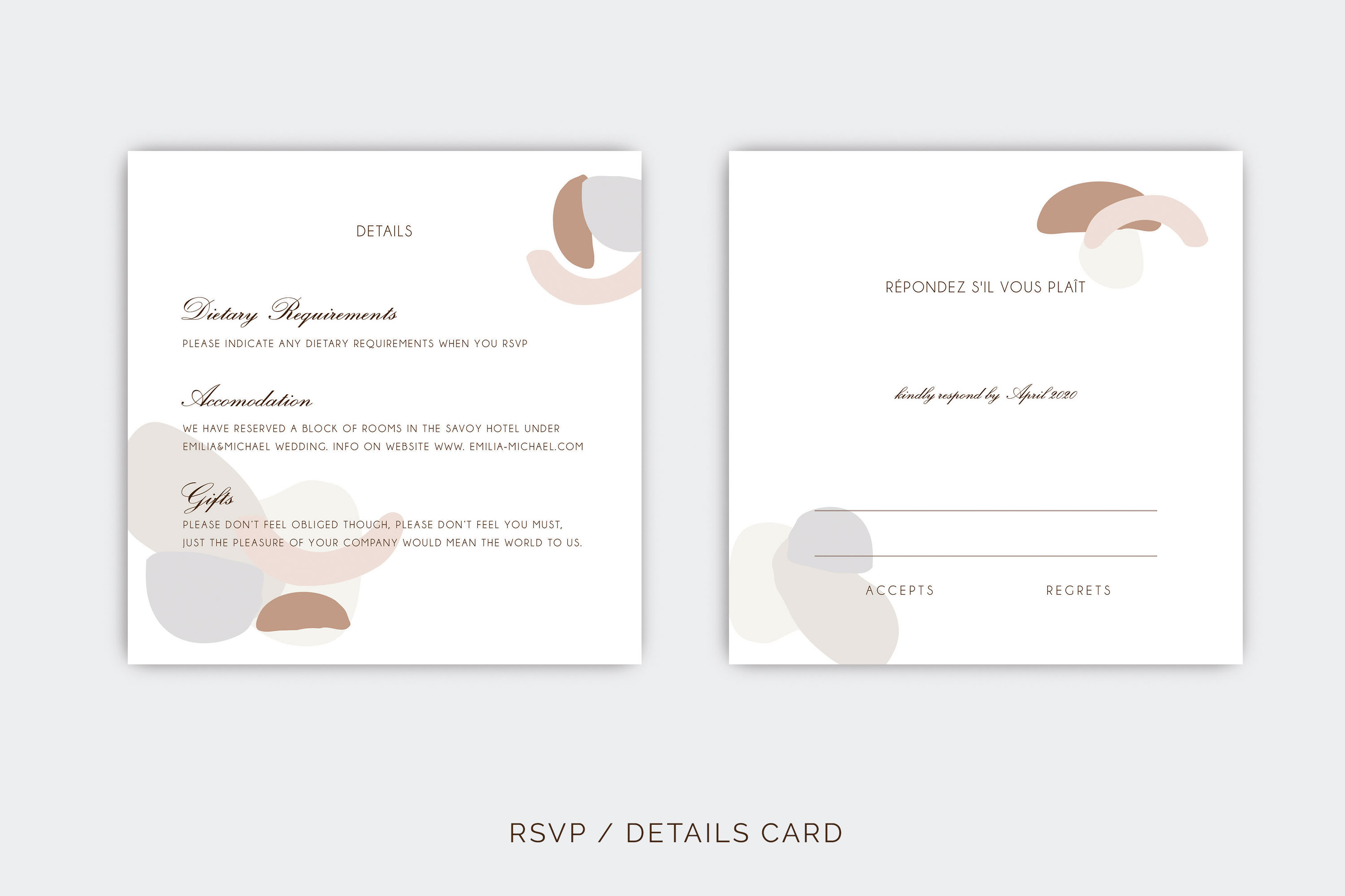 Abstract style Wedding Invitation Suite example image 7