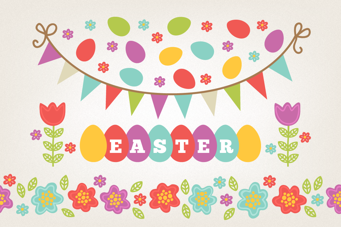 Easter Wreaths and Patterns example image 4