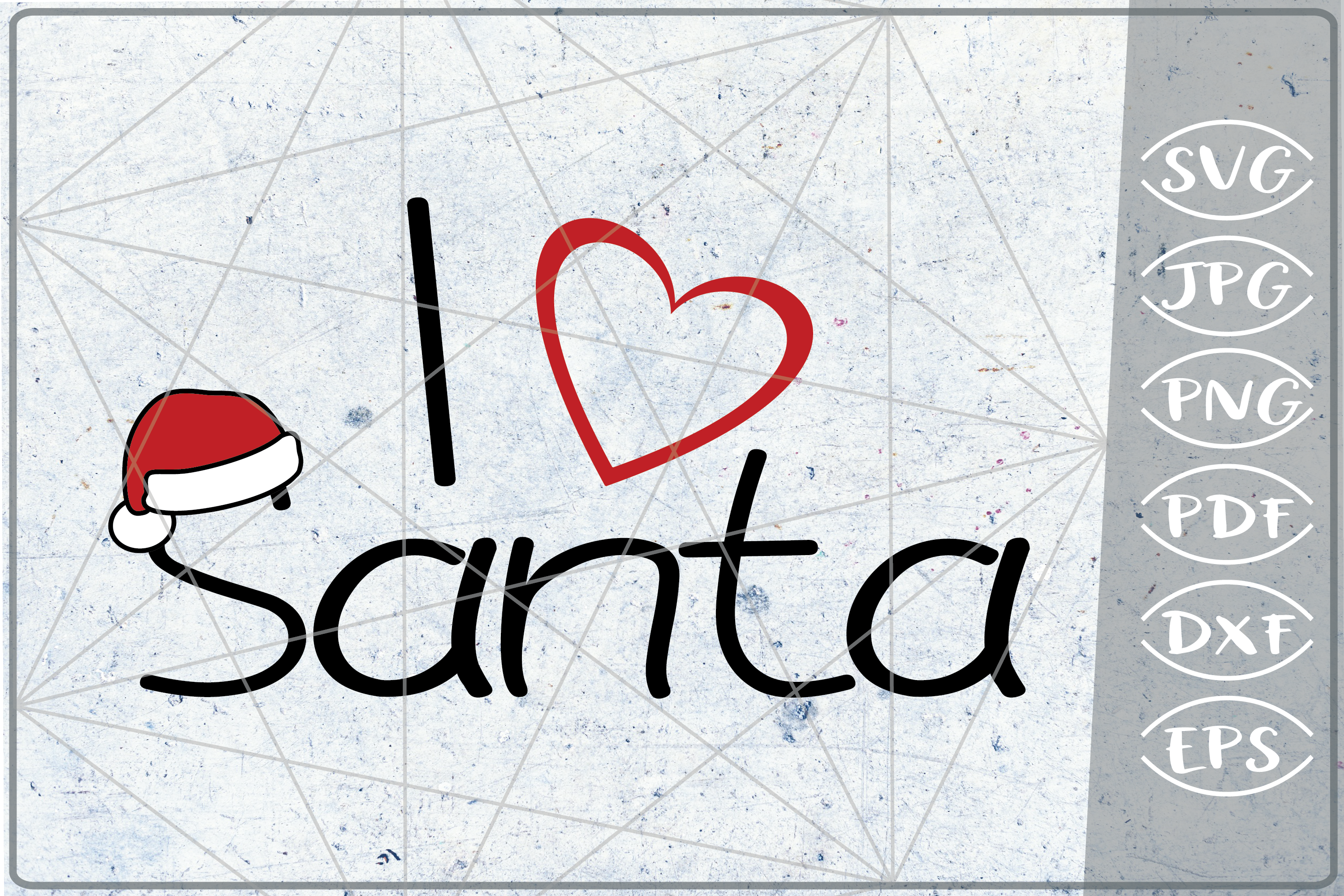 I Love Santa SVG Quote SVG Merry Christmas Print Cricut PNG example image 1