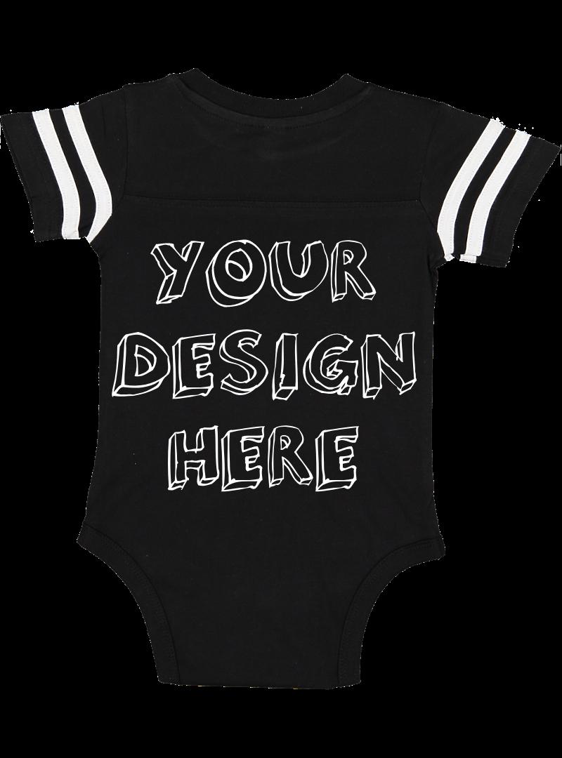 Infant Football Bodysuit Mockups - 12 |PNG|Front/Back - V1 example image 3