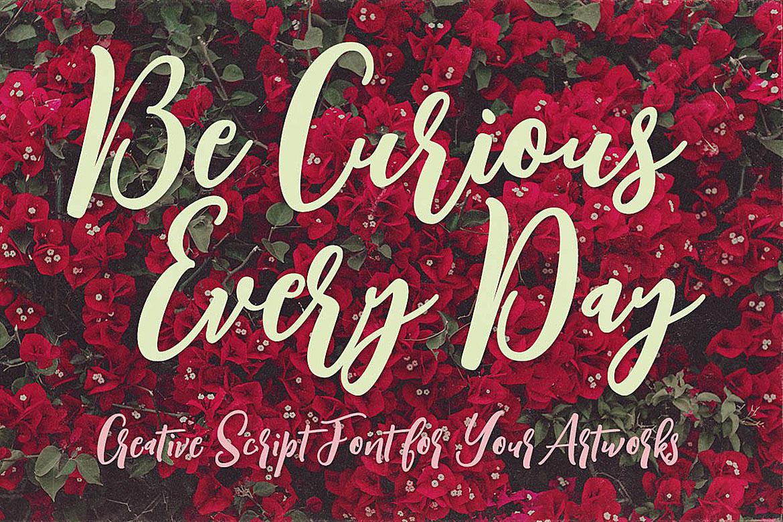 Singapore Script Font example image 3