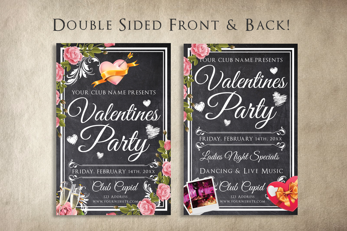 Chalk Valentines Flyer example image 2
