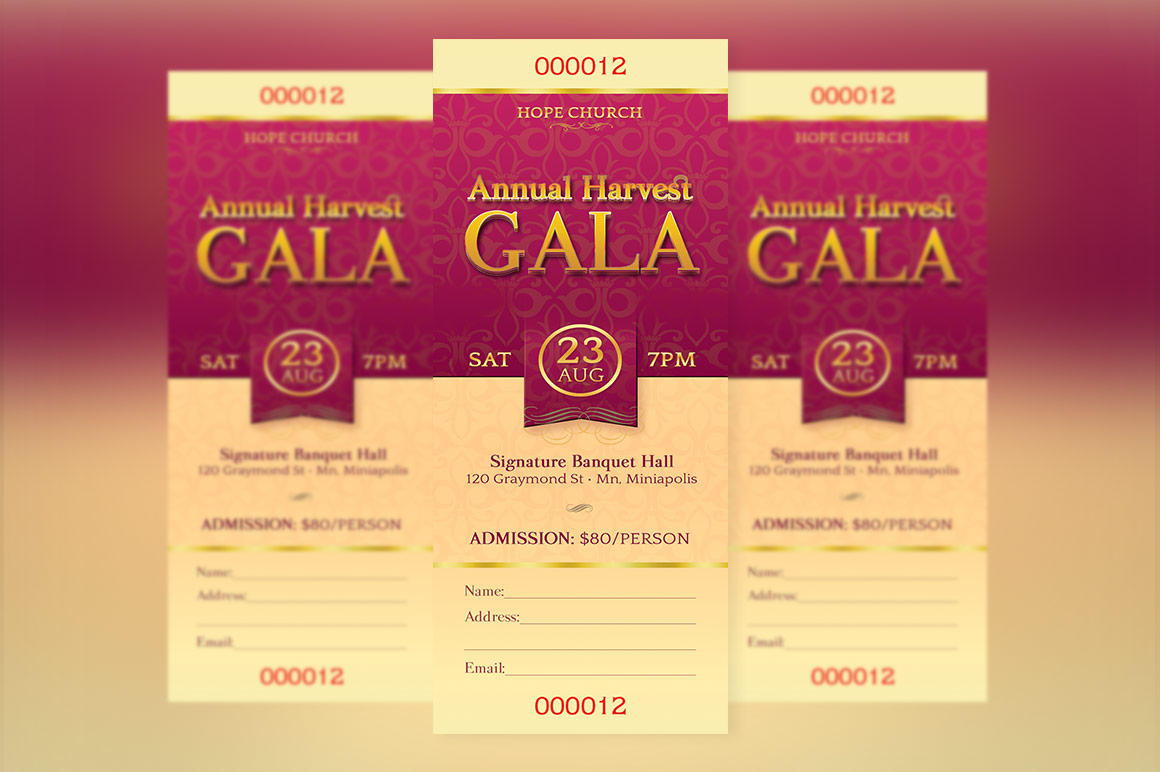 Church Banquet Ticket Template Example Image 2