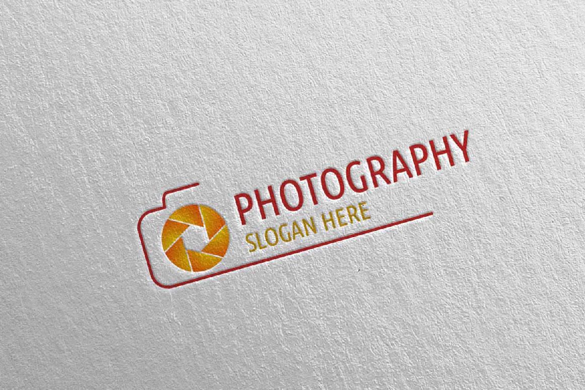 Abstract Camera Photography Logo 3 example image 5