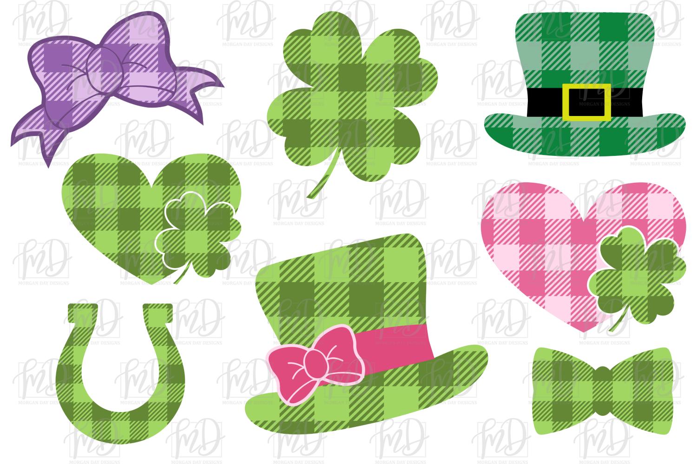Buffalo Plaid St Patrick's Day Bundle SVG, DXF, AI, EPS, PNG example image 2